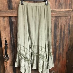 Chico's Skirt Olive Green